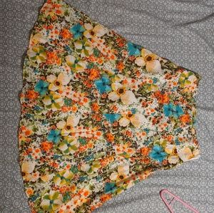 Multi colored floral skirt
